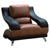 Nathaniel Chair in Brown and Dark Brown