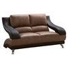 Nathaniel Loveseat - Brown and Dark Brown