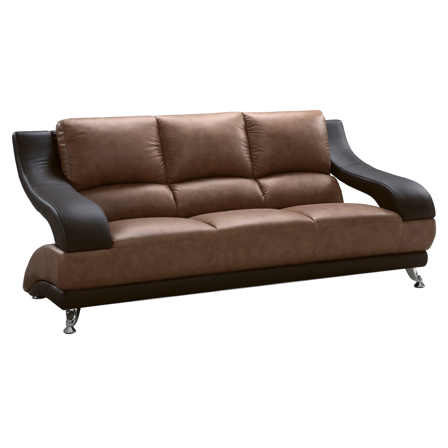 Nathaniel Brown and Dark Brown Sofa