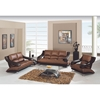 Nathaniel Sofa Set - Brown and Dark Brown