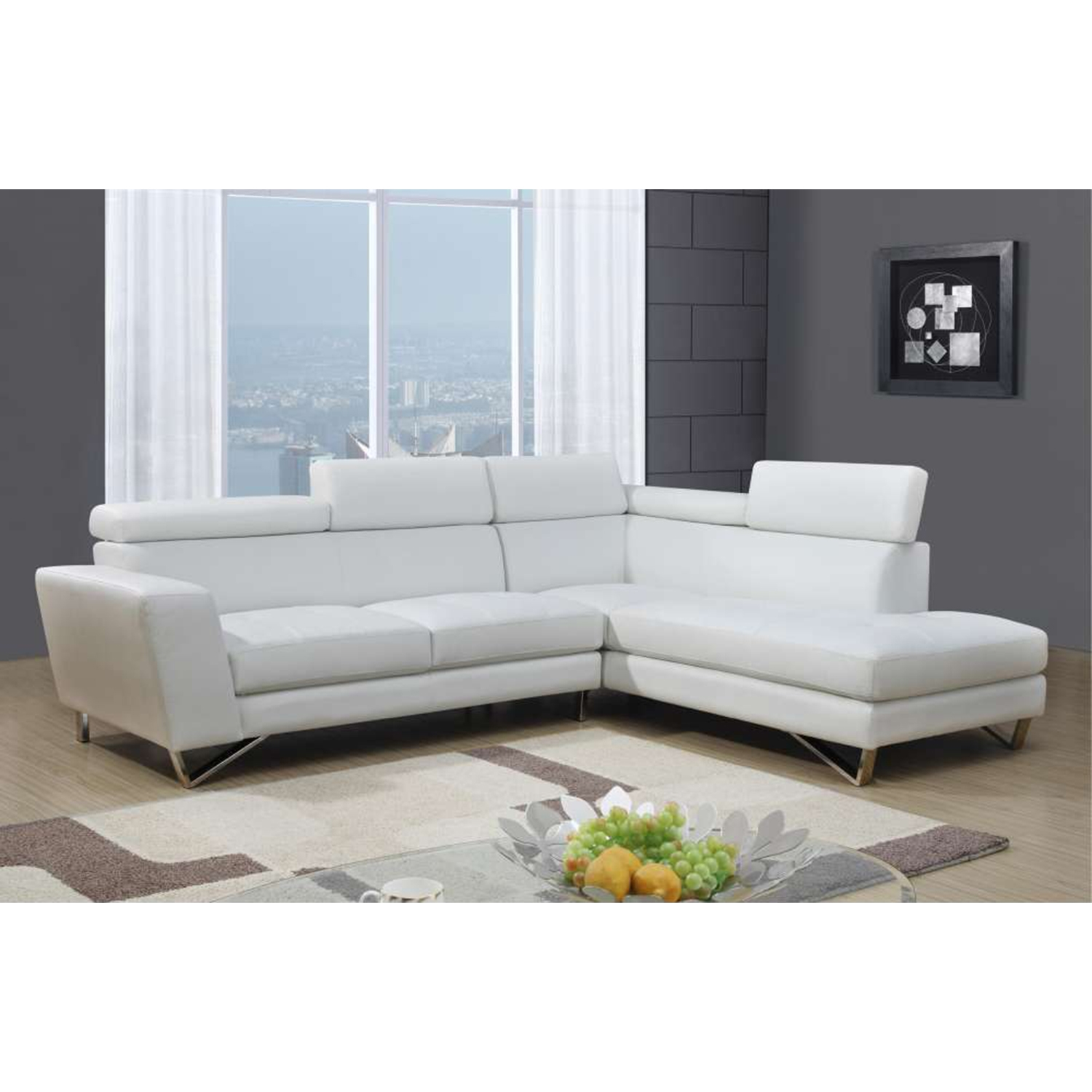 Vanessa Sectional Sofa - White