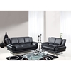 Jesus Sofa Set in Black Leather