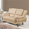 Jesus Leather Sofa Set - Cappuccino - GLO-U9908-CAP-M-SET