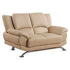 Jesus Leather Loveseat - Cappuccino