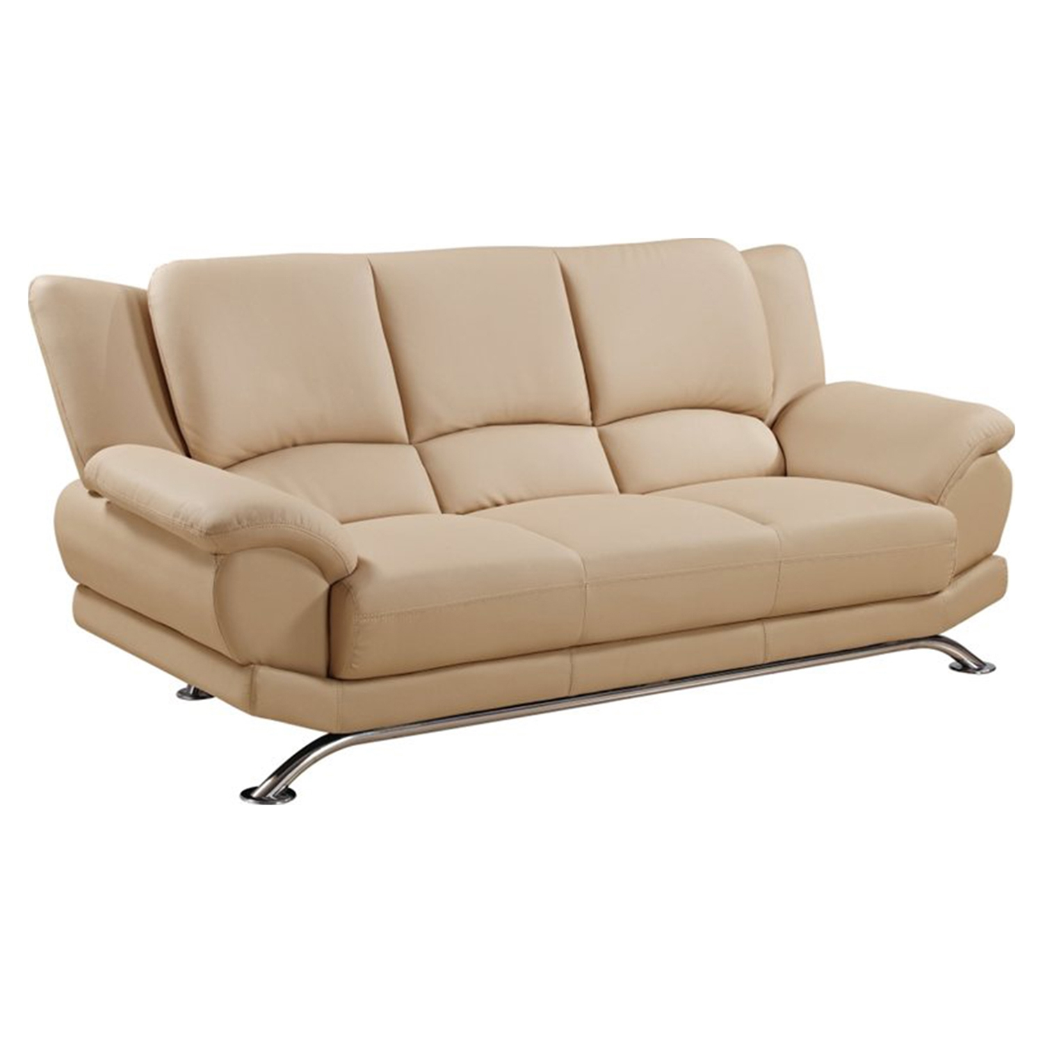 Jesus Leather Sofa in Cappuccino - GLO-U9908-CAP-S-W-LEGS-M