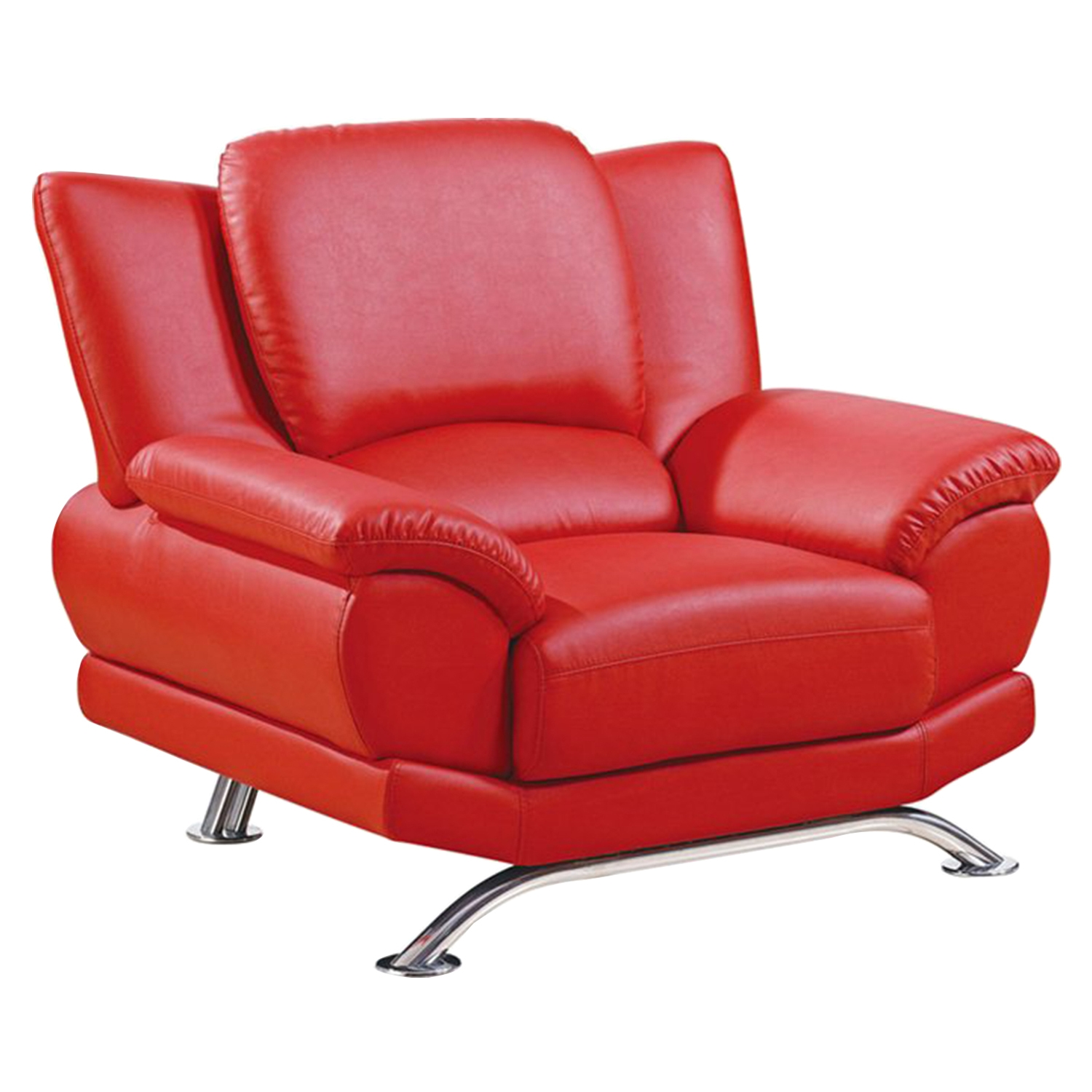 Jesus Leather Chair, Red