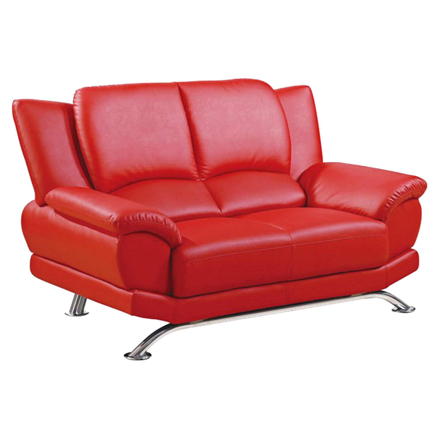 Jesus Loveseat - Red Leather - GLO-U9908-R6V-RED-L-M