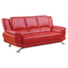 Jesus Leather Sofa in Red