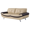 Gracie Leather Sofa in Cappuccino/Chocolate