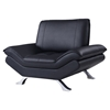 Modern Leather Chair in Natalie Black