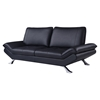 Modern Leather Sofa in Natalie Black
