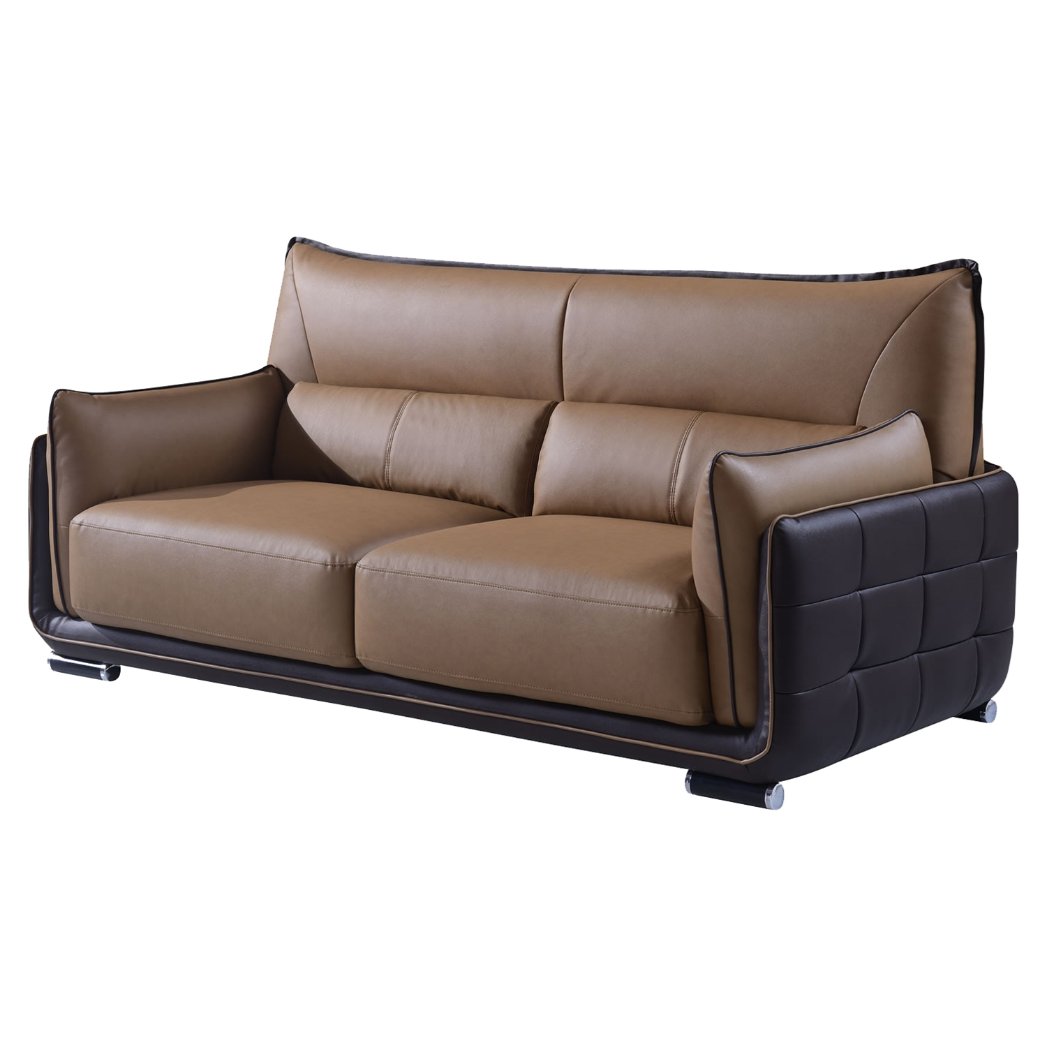 Kaden Sofa in Brown Leather - GLO-UFY220-RV-S