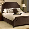 Carlyle Fabric Bed - Scalloped Edges, Nail Heads, Chocolate