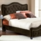 Trieste Fabric Bed - Button Tufts, Nail Heads, Chocolate - HILL-1554BXRT
