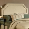 Carlyle Fabric Headboard - Buckwheat, Nailhead Accents