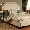 Carlyle Fabric Bed - Buckwheat, Nailhead Trim