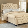 Trieste Tufted Fabric Bed - Buckwheat