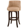 "Napa Valley 25"" Swivel Counter Stool - Cherry, Textured Khaki"