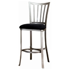 Delray Pewter Counter Stool with Black Seat