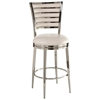 "Rouen 26"" Swivel Counter Stool - Polished Nickel Finish"