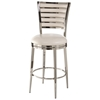 "Rouen 30"" Swivel Bar Stool - Polished Nickel Finish"