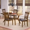 Arbor Hill 5 Piece Expansion Wood Dining Set - HILL-4232DTBC