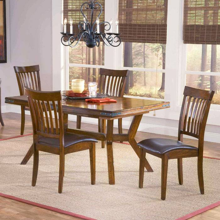 Arbor Hill 5 Piece Expansion Wood Dining Set
