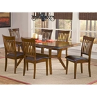 Arbor Hill 7 Piece Expansion Wood Dining Set