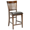 Arbor Hill Non-Swivel Counter Stool in Colonial Chestnut (Set of 2)