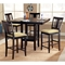 Arcadia Espresso Counter Height Dining Set - HILL-4180DTBSG