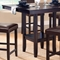 Arcadia Espresso Counter Table with Parson Stools - HILL-4180DTBSPG
