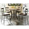 Cameron Round Counter Set with Ladder Back Stools - HILL-4671CTBWS5