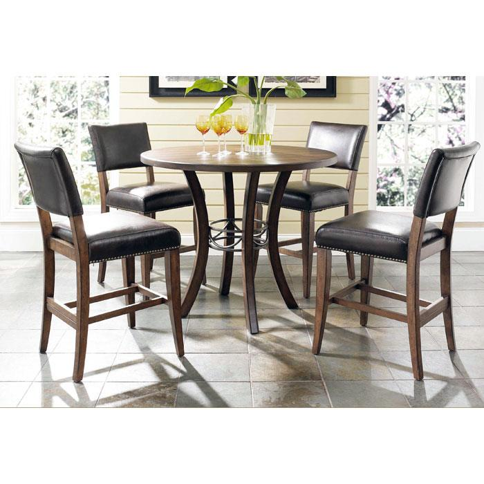 Cameron Round Counter Set with Parson Stools