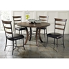 Cameron 5 Piece Round Dining Set with Ladder Back Chairs