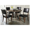 Cameron 5 Piece Round Dining Set with Parson Chairs