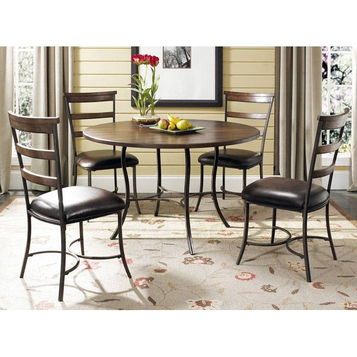 Cameron Round Dining Table with 4 Ladder Back Chairs