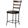 Cameron Ladder Back Non-Swivel Counter Stool (Set of 2)