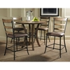 Charleston Round Counter Set with Ladder Back Stools
