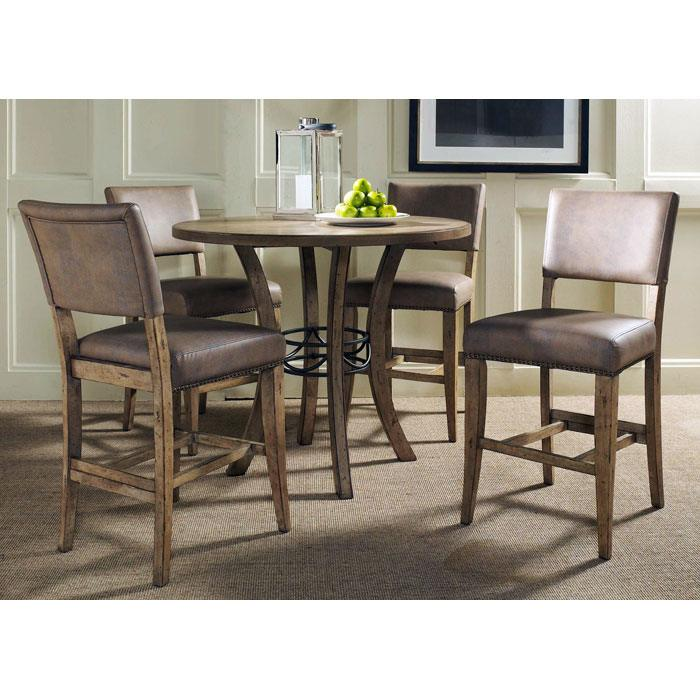 Charleston Round Counter Set with Parson Stools