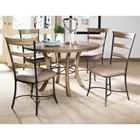 Charleston 5 Piece Round Dining Set with Ladder Back Chairs