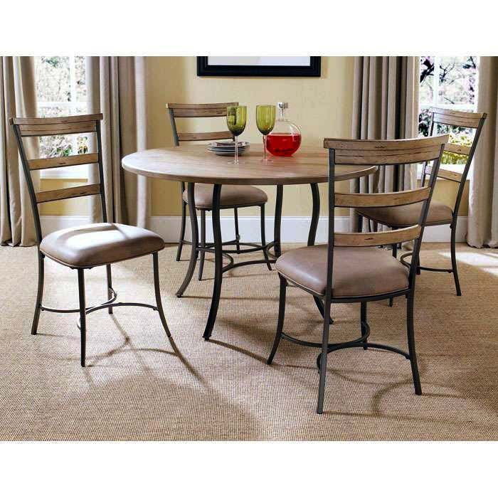 Charleston Round Dining Table with 4 Ladder Back Chairs