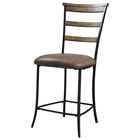 Charleston Ladder Back Non-Swivel Counter Stool (Set of 2)