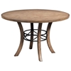 Charleston Round Wood Dining Table with Metal Ring