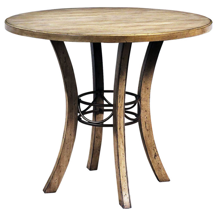 Charleston Counter Table with Metal Ring - HILL-4670CTB