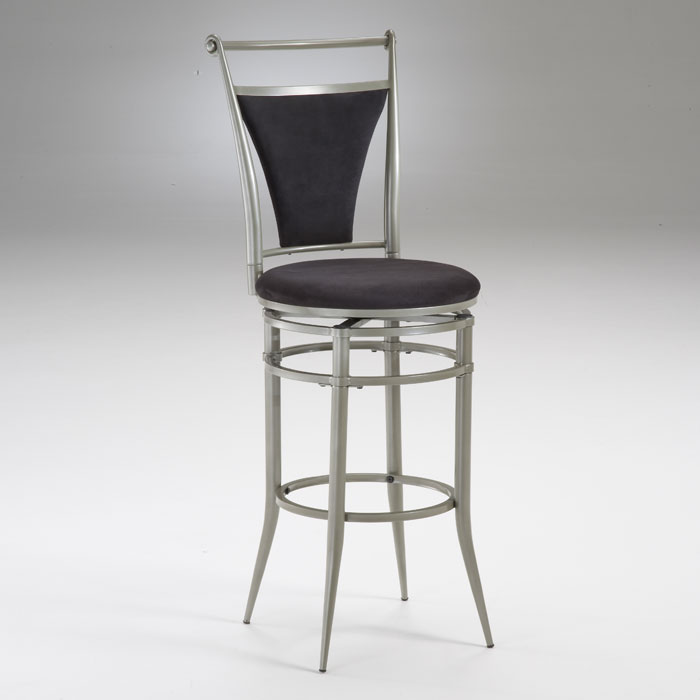 Faux Suede Cierra Swivel Bar Stool
