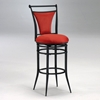 Cierra Black Frame Swivel Bar Stool