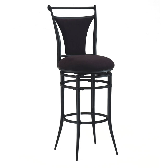 Cierra Black Frame Swivel Bar Stool - HILL-4592-8XX