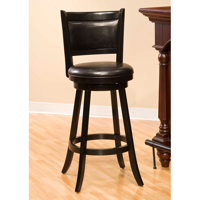Dennery Black Swivel Bar Stool