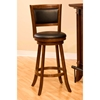 Dennery Swivel Bar Stool with Cherry Wood Frame