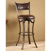 "Drummond 30"" Metal Swivel Bar Stool in Brown"